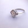 .95ctw Vintage Pear Rose Cut Diamond Bezel Ring 27