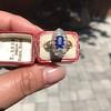 2.95ctw Antique Burmese No-Heat Sapphire Navette Ring 10