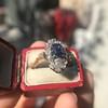 2.95ctw Antique Burmese No-Heat Sapphire Navette Ring 40