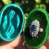 2.95ctw Antique Burmese No-Heat Sapphire Navette Ring 15
