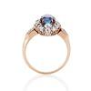 2.95ctw Antique Burmese No-Heat Sapphire Navette Ring 4