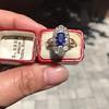 2.95ctw Antique Burmese No-Heat Sapphire Navette Ring 16