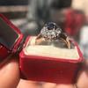 2.95ctw Antique Burmese No-Heat Sapphire Navette Ring 38