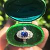 2.95ctw Antique Burmese No-Heat Sapphire Navette Ring 34