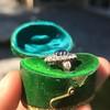 2.95ctw Antique Burmese No-Heat Sapphire Navette Ring 17