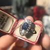 2.95ctw Antique Burmese No-Heat Sapphire Navette Ring 42