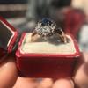 2.95ctw Antique Burmese No-Heat Sapphire Navette Ring 36