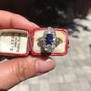 2.95ctw Antique Burmese No-Heat Sapphire Navette Ring 11