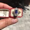 2.95ctw Antique Burmese No-Heat Sapphire Navette Ring 33