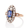 2.95ctw Antique Burmese No-Heat Sapphire Navette Ring 1