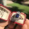 2.95ctw Antique Burmese No-Heat Sapphire Navette Ring 44
