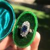 2.95ctw Antique Burmese No-Heat Sapphire Navette Ring 25