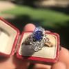 2.95ctw Antique Burmese No-Heat Sapphire Navette Ring 8