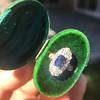 2.95ctw Antique Burmese No-Heat Sapphire Navette Ring 30