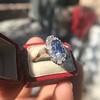 2.95ctw Antique Burmese No-Heat Sapphire Navette Ring 39
