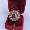 5.87ctw Antique Burmese Ruby and Diamond Cluster Ring GIA No-Heat 8