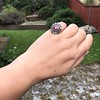 5.87ctw Antique Burmese Ruby and Diamond Cluster Ring GIA No-Heat 25