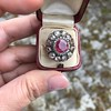 5.87ctw Antique Burmese Ruby and Diamond Cluster Ring GIA No-Heat 12