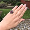 5.87ctw Antique Burmese Ruby and Diamond Cluster Ring GIA No-Heat 24