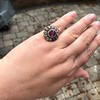 5.87ctw Antique Burmese Ruby and Diamond Cluster Ring GIA No-Heat 20