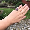 5.87ctw Antique Burmese Ruby and Diamond Cluster Ring GIA No-Heat 4