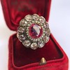 5.87ctw Antique Burmese Ruby and Diamond Cluster Ring GIA No-Heat 9