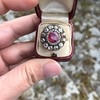 5.87ctw Antique Burmese Ruby and Diamond Cluster Ring GIA No-Heat 13