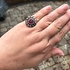 5.87ctw Antique Burmese Ruby and Diamond Cluster Ring GIA No-Heat 19
