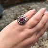 5.87ctw Antique Burmese Ruby and Diamond Cluster Ring GIA No-Heat 17
