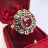 5.87ctw Antique Burmese Ruby and Diamond Cluster Ring GIA No-Heat 11