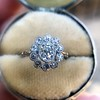 1.25ctw Antique Cushion Cut Cluster Ring, French 1