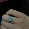 1.25ctw Antique Cushion Cut Cluster Ring, French 6