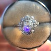 1.25ctw Antique Cushion Cut Cluster Ring, French 3