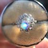 1.25ctw Antique Cushion Cut Cluster Ring, French 19
