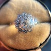 1.25ctw Antique Cushion Cut Cluster Ring, French 23