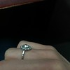 1.25ctw Antique Cushion Cut Cluster Ring, French 7