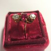 .55ctw Antique Diamond & Ruby (syn) Vertical Trilogy Ring 9