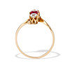 .55ctw Antique Diamond & Ruby (syn) Vertical Trilogy Ring 3