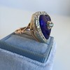 Antique Diamond and Enamel Puffed Heart Ring 8