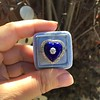 Antique Diamond and Enamel Puffed Heart Ring 20