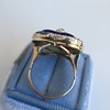 Antique Diamond and Enamel Puffed Heart Ring 11