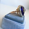 Antique Diamond and Enamel Puffed Heart Ring 6