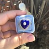 Antique Diamond and Enamel Puffed Heart Ring 22
