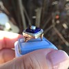 Antique Diamond and Enamel Puffed Heart Ring 19
