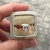 1.10ct (est) Antique Rose Cut Gypsy Ring 14
