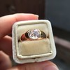 1.10ct (est) Antique Rose Cut Gypsy Ring 17