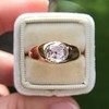 1.10ct (est) Antique Rose Cut Gypsy Ring 21