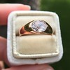 1.10ct (est) Antique Rose Cut Gypsy Ring 20