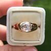 1.10ct (est) Antique Rose Cut Gypsy Ring 8