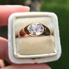 1.10ct (est) Antique Rose Cut Gypsy Ring 5